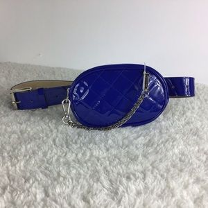 Steve Madden Quilted Belt Bag Cobalt Blue